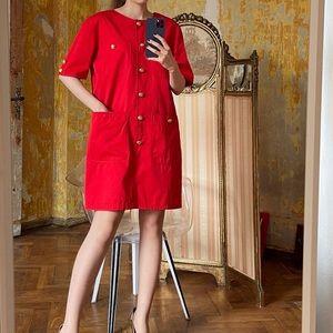SALE 💃 Valentino Red Oversized Mini Dress - Auth
